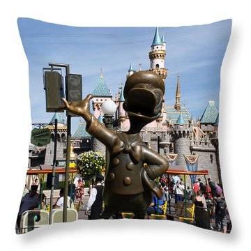 Copper Donald Throw Pillow by David Nicholls