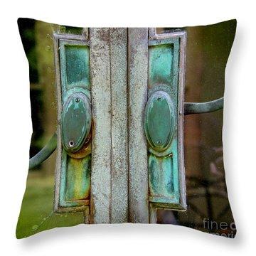 Copper Doorknobs Throw Pillow
