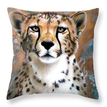 Copper Flash - Cheetah Throw Pillow