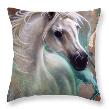 Copper Grace - Horse Throw Pillow