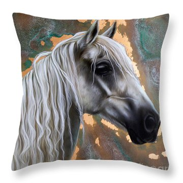 Copper Horse Throw Pillow