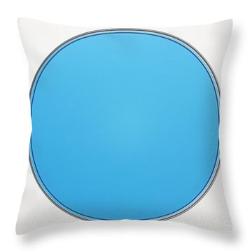 Copper II Sulfate Throw Pillow