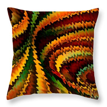 Copper Patina Throw Pillow by David K Small