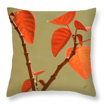 Copper Plant Throw Pillow by Ben and Raisa Gertsberg