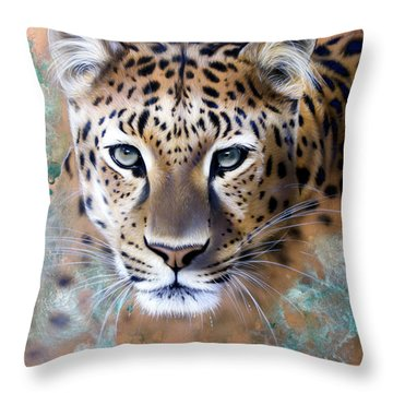 Copper Stealth - Leopard Throw Pillow