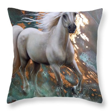 Copper Sundancer - Horse Throw Pillow