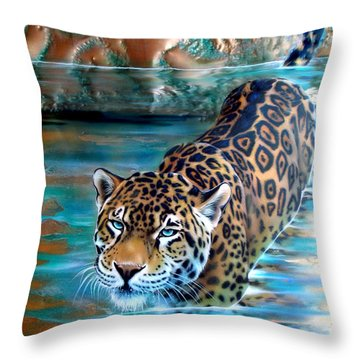 Copper - Temple Of The Jaguar Throw Pillow