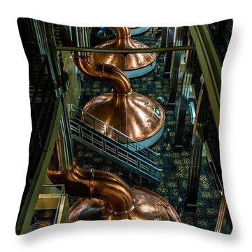 Copper Tops Throw Pillow by Randy Scherkenbach