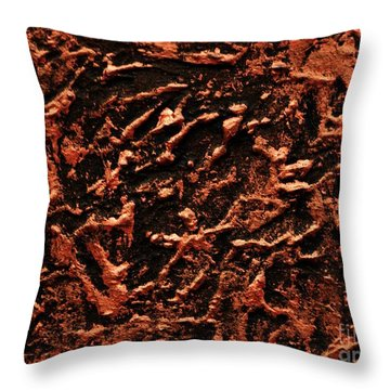 Copper Wall Throw Pillow by P Dwain Morris
