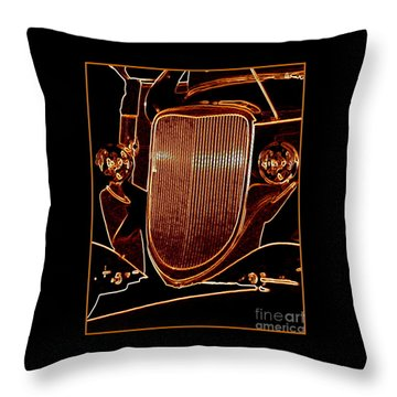 Throw Pillow featuring the photograph Copper Works by Bobbee Rickard