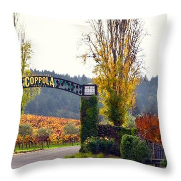 Coppola Winery Sold Throw Pillow