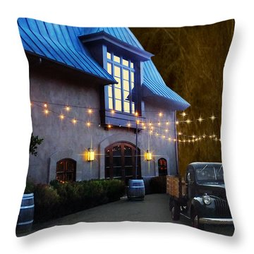Coppola Winery Throw Pillow by Judy  Johnson