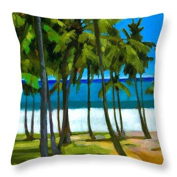 Coqueiros De Tiririca Throw Pillow