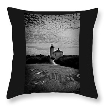 Coquille River Lighthouse Throw Pillow by Melanie Lankford Photography