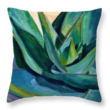 Coral Aloe 2 Throw Pillow