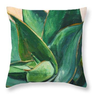 Coral Aloe 3 Throw Pillow