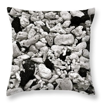 Coral And Lava Beach Throw Pillow