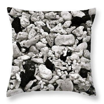 Coral And Lava Beach Throw Pillow by Jocelyn Kahawai