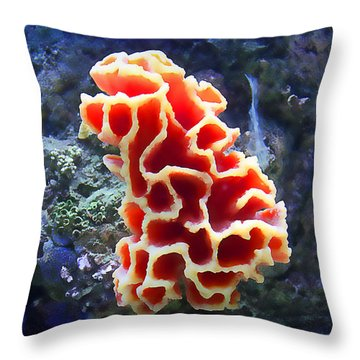 Coral Artistry Throw Pillow