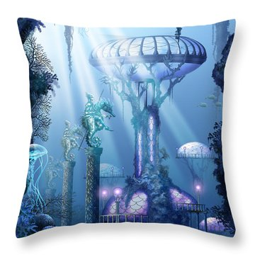 Coral City   Throw Pillow by Ciro Marchetti