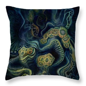 Coral Dive Throw Pillow