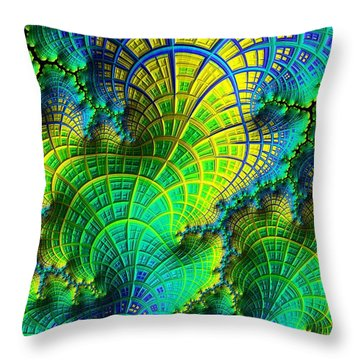 Coral Electric Throw Pillow