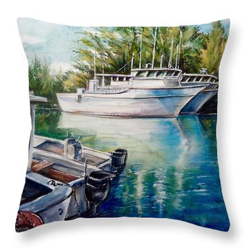 Coral Harbour 3 Throw Pillow