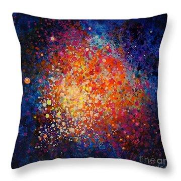 Coral Nebula #2 Throw Pillow by Freddie Lieberman