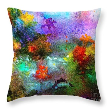 Coral Reef Impression 1 Throw Pillow
