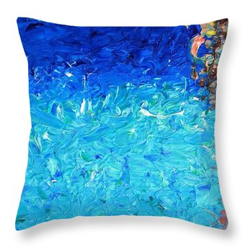 Coral Reef I Throw Pillow