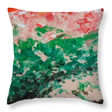Coral Reef II Throw Pillow