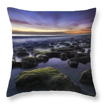 Coral Sea Throw Pillow by Debra and Dave Vanderlaan