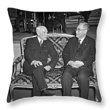 Cordell Hull With Adm. Nomura Throw Pillow