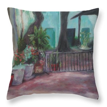 Cordova Courtyard Throw Pillow