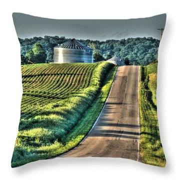 Corduroy Corn And Seersucker Silos Throw Pillow