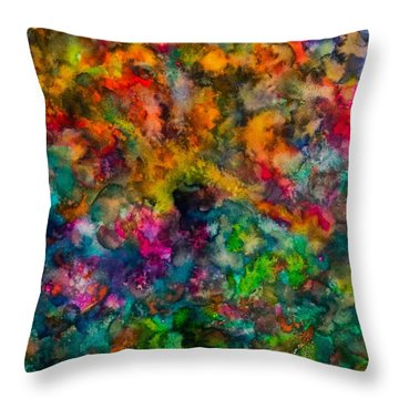 Throw Pillow featuring the painting Core by  Heidi Scott