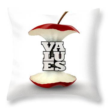 Core Values Throw Pillow by Allan Swart
