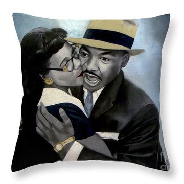 Coretta And Martin Throw Pillow