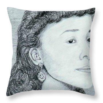 Coretta Scott King Throw Pillow