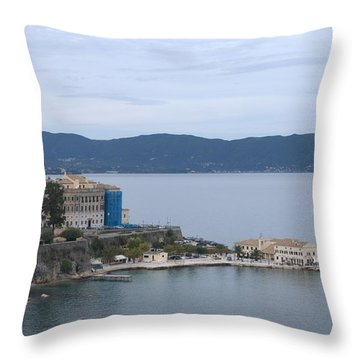 Corfu City 4 Throw Pillow