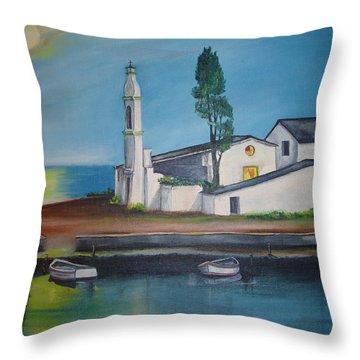 Corfu Throw Pillow