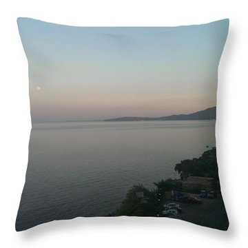 Corfu Landscape Throw Pillow