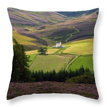 Corgarff Castle - Summer Throw Pillow