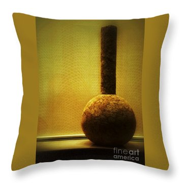 Cork Vase Throw Pillow