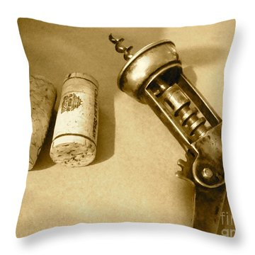 Corkscrew Duet Throw Pillow by Cathy Dee Janes
