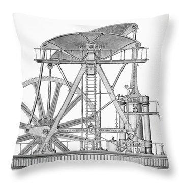 Corliss Steam Engine, 1876 Throw Pillow by Granger