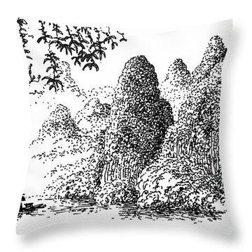 Cormoran Fishing Throw Pillow