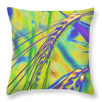 Corn Throw Pillow by Carol Lynch