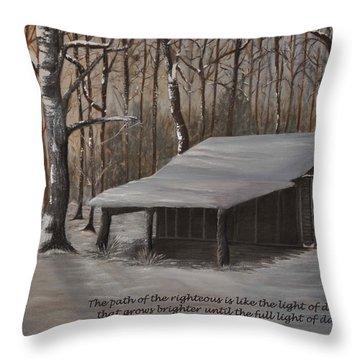 Corn Crib - Proverbs  Throw Pillow