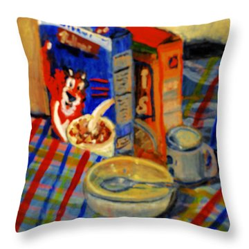 Corn Flakes Throw Pillow